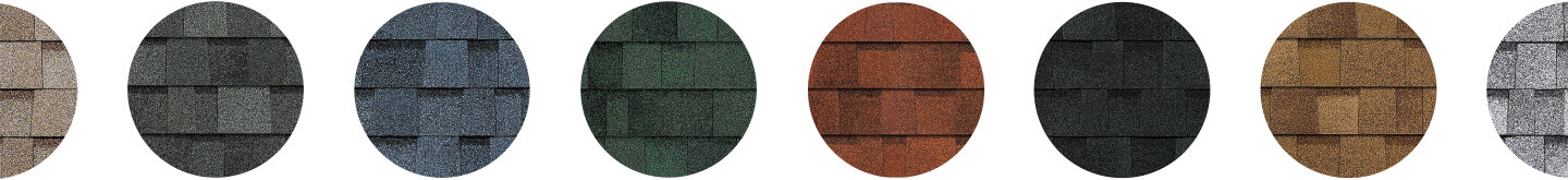 color variations of shingles available for your aurora, colorado roof,