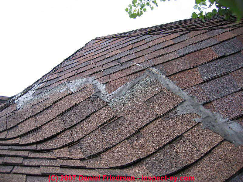 poor shingles repair roofing job