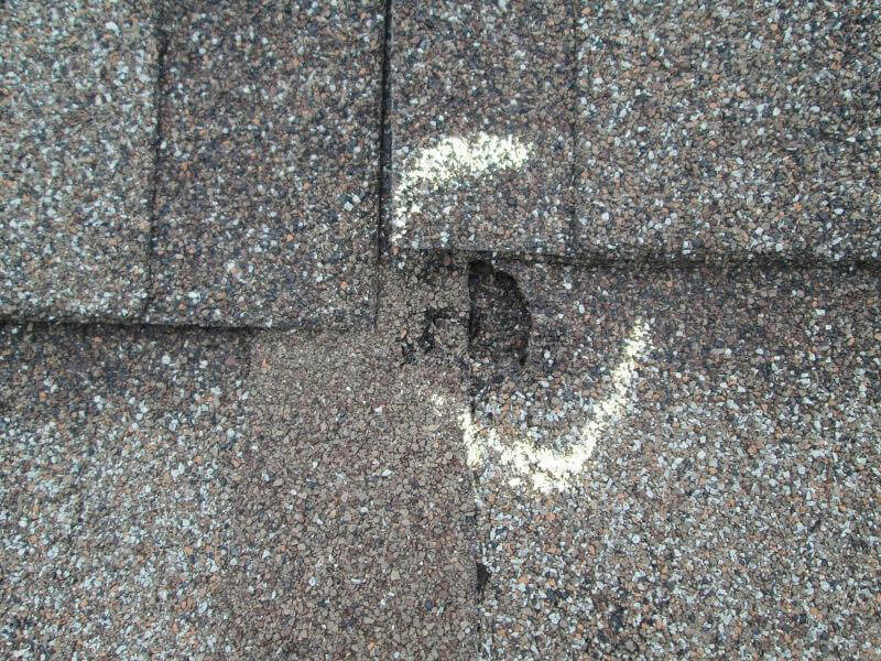 how much hail damage to replace a roof